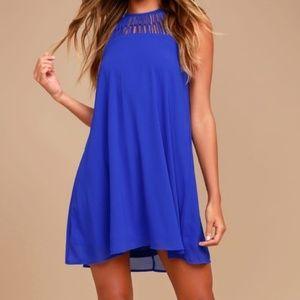 NWT blue LuLu's swing dress